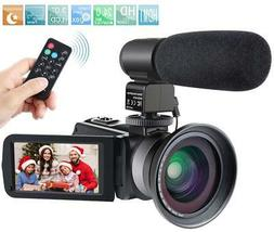 Camcorder,Besteker 1080P Video Camera IR Night Vision Full H