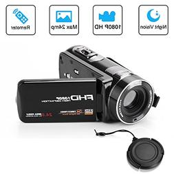 Digital Camera Video Camcorder Full HD 1080p 24.0MP 3.0 Inch