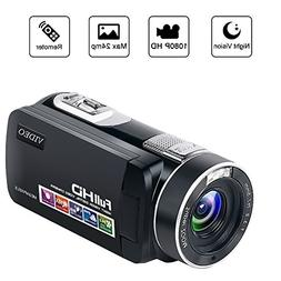 Camcorder Video Camera Full HD Camcorders 1080P 24.0MP Vlogg