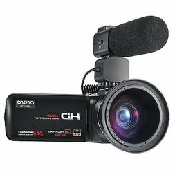 ORDRO Camcorder 1080P 30FPS Full HD Video Camera with Wifi E