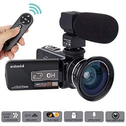 Camera Camcorder Kimire HD 1080P 16X Powerful Digital Zoom V