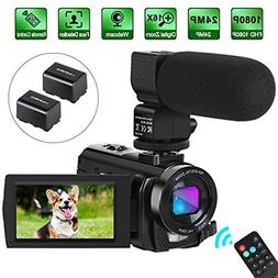 Camcorder Video Camera Digital YouTube Vlogging HD Portable,