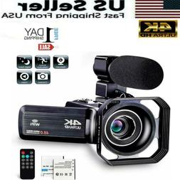 Camcorder Video Camera Ultra HD 4K 48MP Camcorder Camera wit