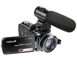 Camcorders,Besteker 1080P 30 FTPS HDMI 10X Optical Zoom and