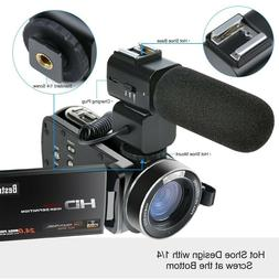 Camera Camcorder Besteker HD 1080P 24MP 30FPS Portable Digit