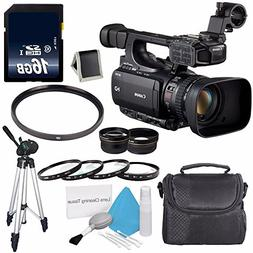 Canon XF105 HD Professional Camcorder  + 58mm Wide Angle Len