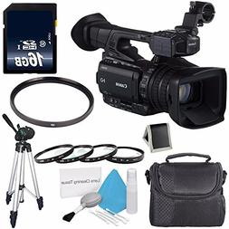 Canon XF205 HD Camcorder  + 58mm Macro Close Up Kit + 58mm U