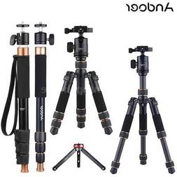 Andoer Carbon Fiber@Al-Alloy@Mini Table Tripod / Monopod DSL