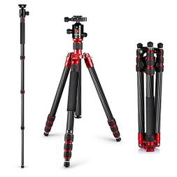 "Neewer Carbon Fibre 67"" Tripod Monopod with 360 Degree Ball"