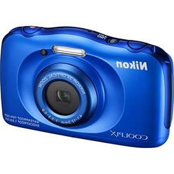 Nikon COOLPIX S33 13.2MP Waterproof Digital Camera - Blue