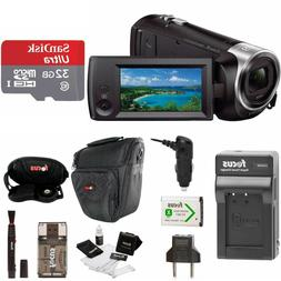 Sony CX405 HD Camcorder Kit with bag, 32g sd card, travel ch