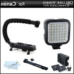 Butterfly Deluxe LED Video Light + Video Stabilizer Kit For