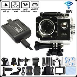 DITONG DT61 4K Ultra HD Action Camera Wifi 1080P 60fps 16MP/