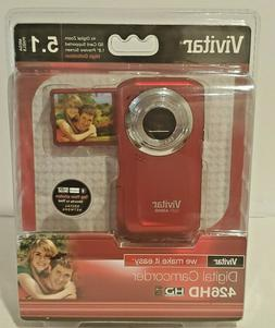 Vivitar DVR 426HD Camcorder - Red-New Sealed