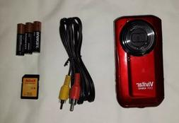Vivitar DVR 426HD Camcorder - Red W/ 4GB Memory Card, AV Con
