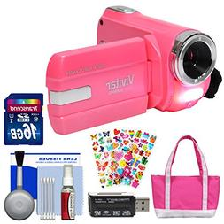 Vivitar DVR-508 NHD Digital Video Camera Camcorder  with 16G