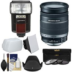 Canon EF-S 18-200mm f/3.5-5.6 IS Zoom Lens with 3 Filters +