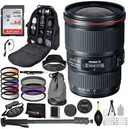Canon EF 16-35mm f/4L is USM Lens with Professional Bundle P
