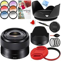 Sony 35mm f/1.8 Prime Fixed E-Mount Full Frame Lens with 49m