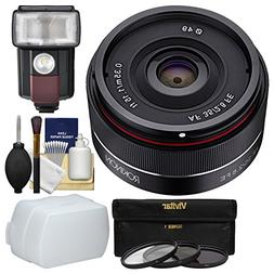 Rokinon 35mm f/2.8 Autofocus Full Frame Lens with 3 Filters