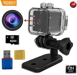 FabQuaity Waterproof Mini Camera SQ12 HD + 16GB Sport Action