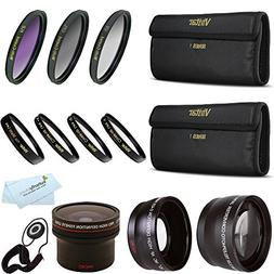 Fisheye Lens Kit For CANON VIXIA HF R82 HF R80 HF R800, HF R