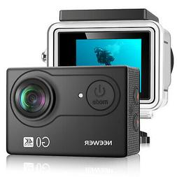 Neewer G0 HD 4K Action Camera 12MP 98 ft Underwater Waterpro