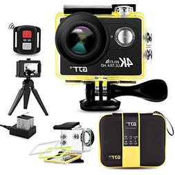 GJT GP1R 4K Sports Action Camera Portable Package,12MP Ultra