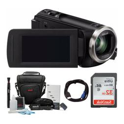 Panasonic V180 Full HD 1080p Camcorder with 32GB Accessory B