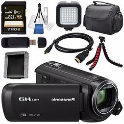 Panasonic HC-V380 HC-V380K Full HD Camcorder + Sony 128GB SD