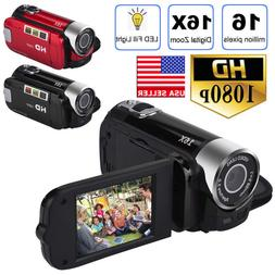 HD 1080P 2.7'' LCD Camcorder 16MP 16X Zoom Digital Video Cam