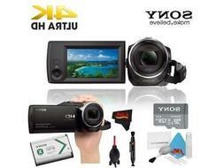 Sony HDR-CX405 HD Camcorder - Black + Sony 128GB Memory Card