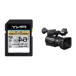 Sony HXRNX100 Full HD NXCAM Camcorder  and PNY Elite Perform