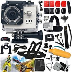 KoolCam AC200 HD 1080p ACTION Camera / Camcorder + COMPLETE