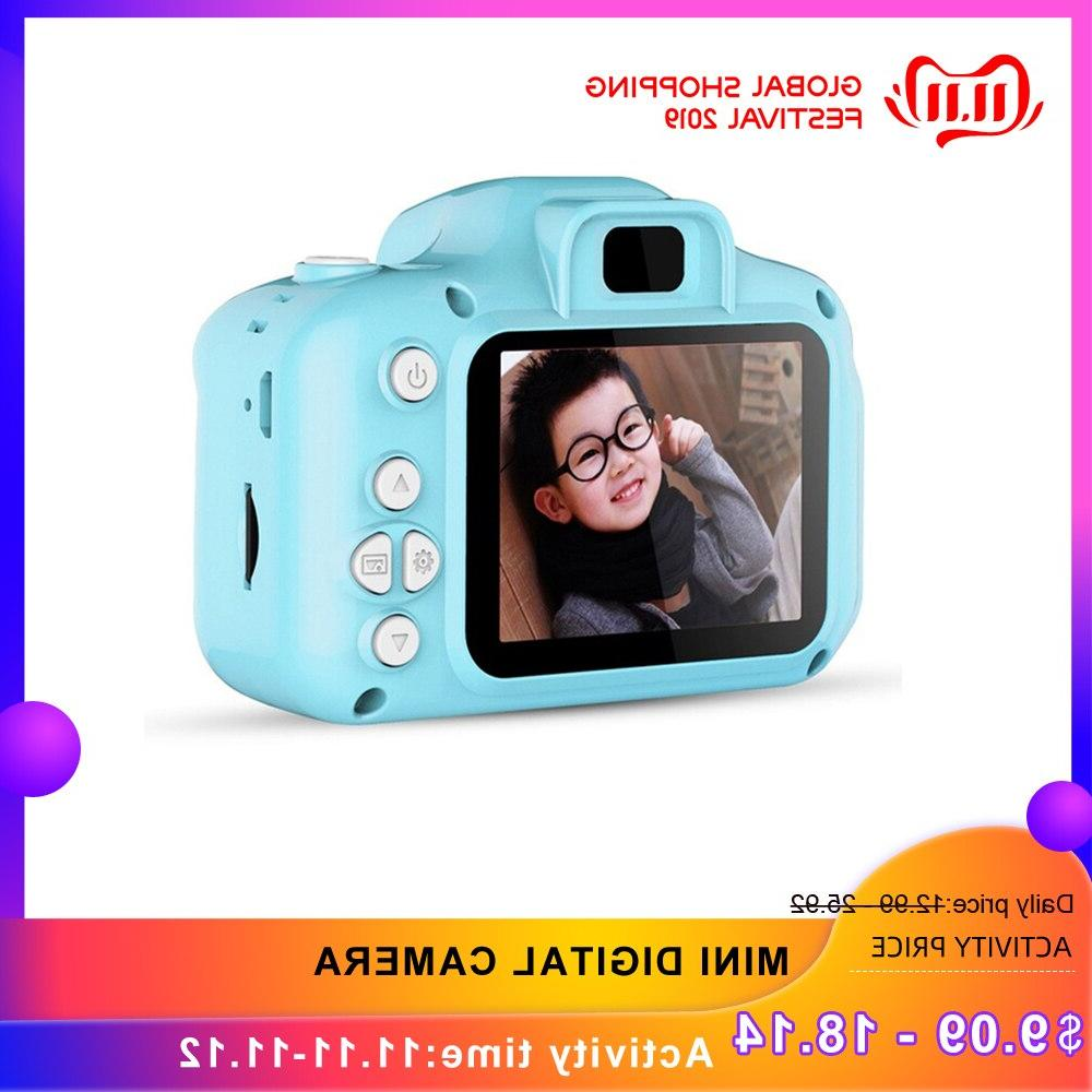 1080p blue pink mini digital camera