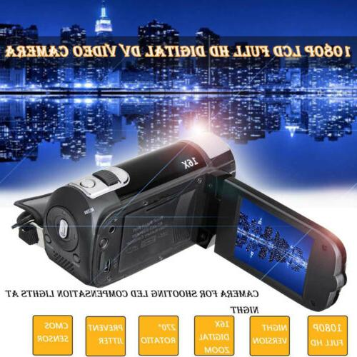 1080P HD Camcorder Video TFT LCD 24MP 16X AV Night
