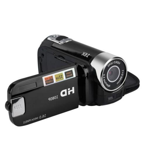 1080P HD Camcorder Video Camera TFT 24MP 16X Zoom AV Vision
