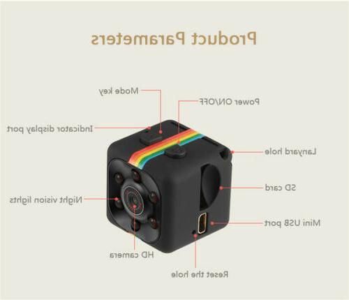 140° Wide Mini Sports Action Camcorder 1080P Full Video