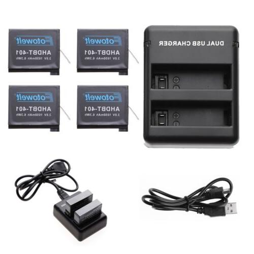 1650mAh Battery for GoPro HD HERO4 Black & Silver / 4 Pcs AH