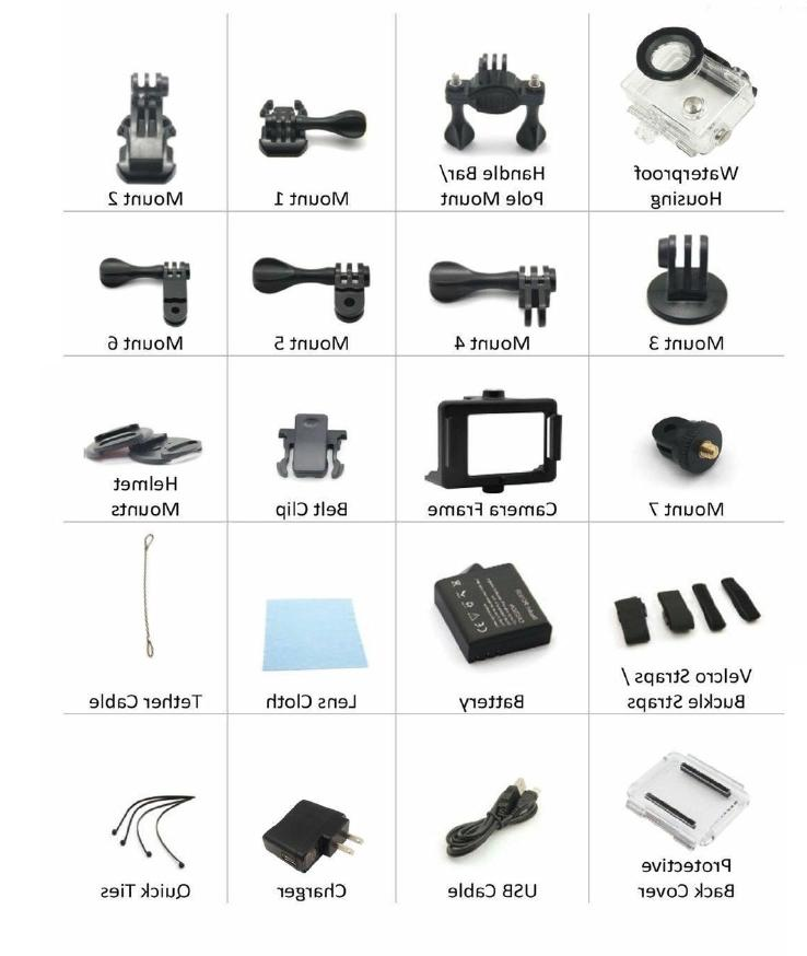 4K Action Screen Ultra HD 16MP Camcorder + Accessory Bundle