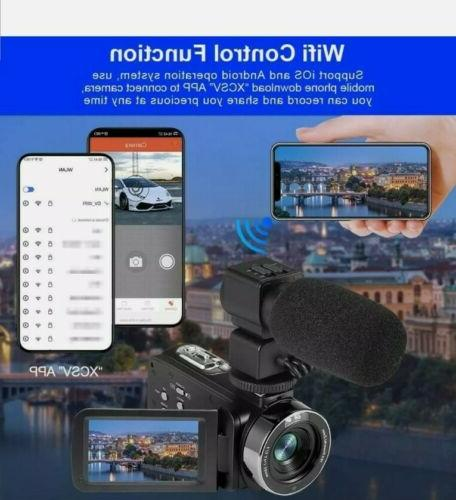 4k Camcorder Touch Screen WiFi