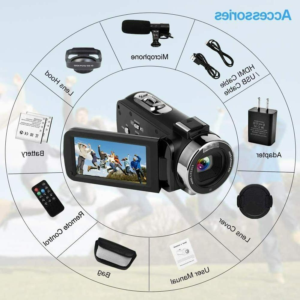 4K Camcorder Video Camera For Youtube Cofunkool 60Fps 48Mp Ultra Wif