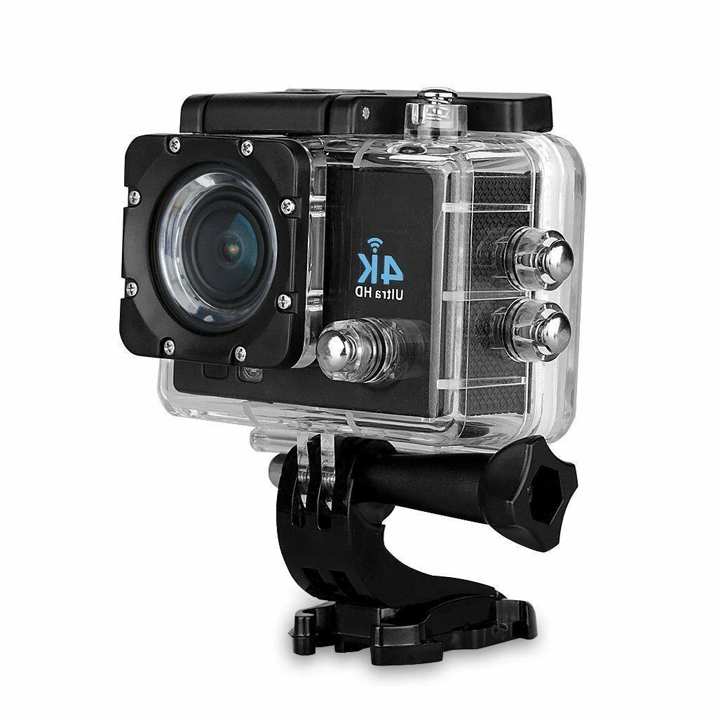 4K Ultra HD DV 16MP 60fps Action Camera + Accessory