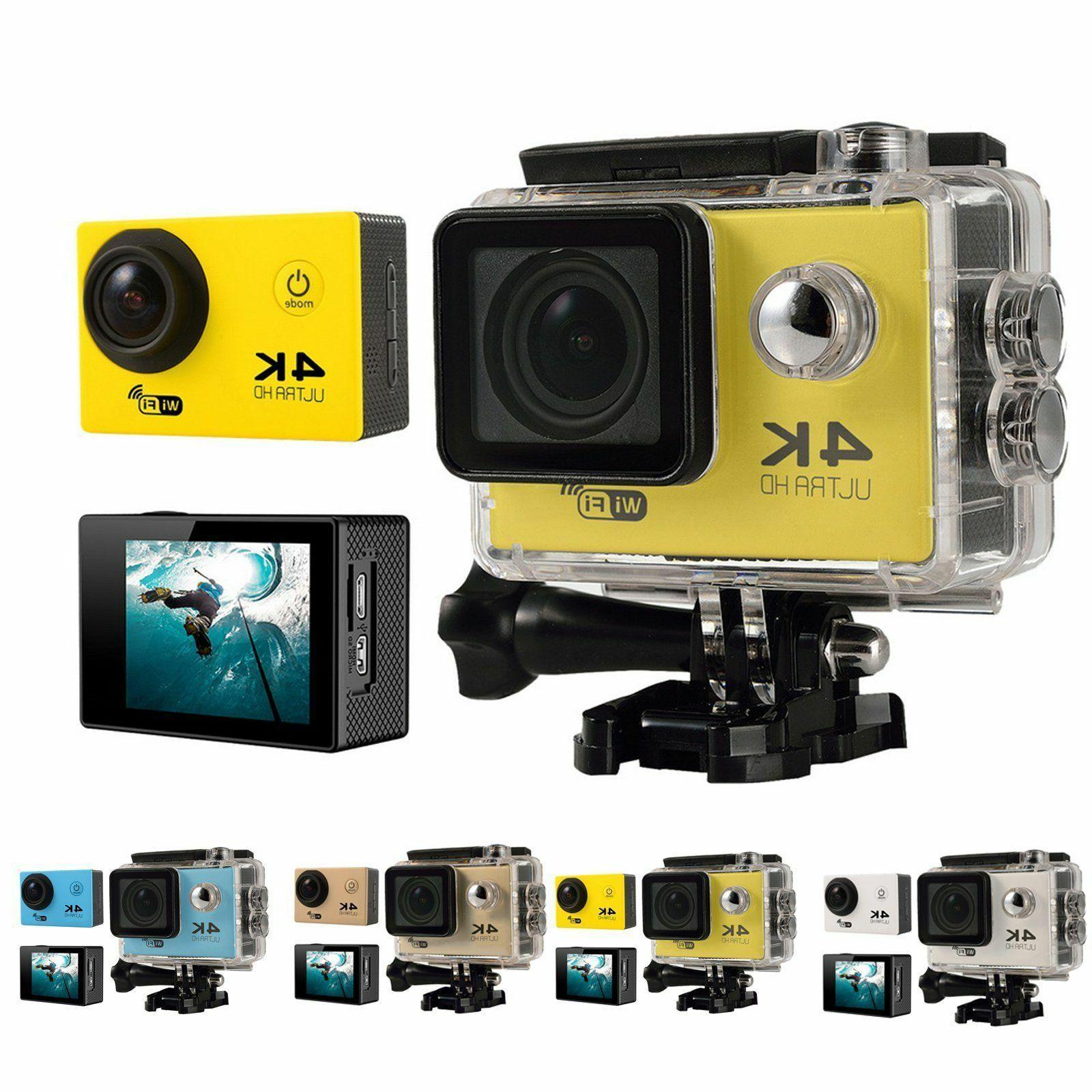 4K Ultra HD DV 16MP 1080p 60fps Action Camera + Accessory