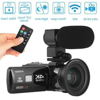 ultra hd wifi digital video camera camcorder
