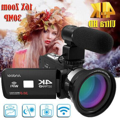 Andoer Ultra HD WiFi Digital Camcorder DV