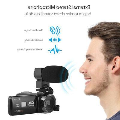 Andoer Ultra HD WiFi Digital DV Recorder Lens