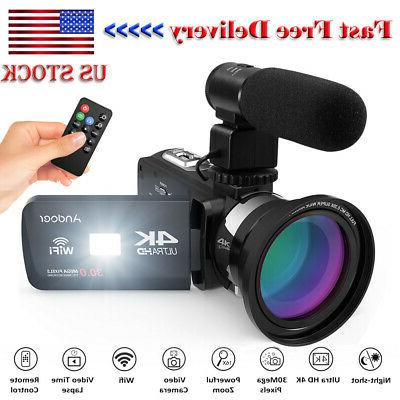 4k ultra hd wifi digital video camera