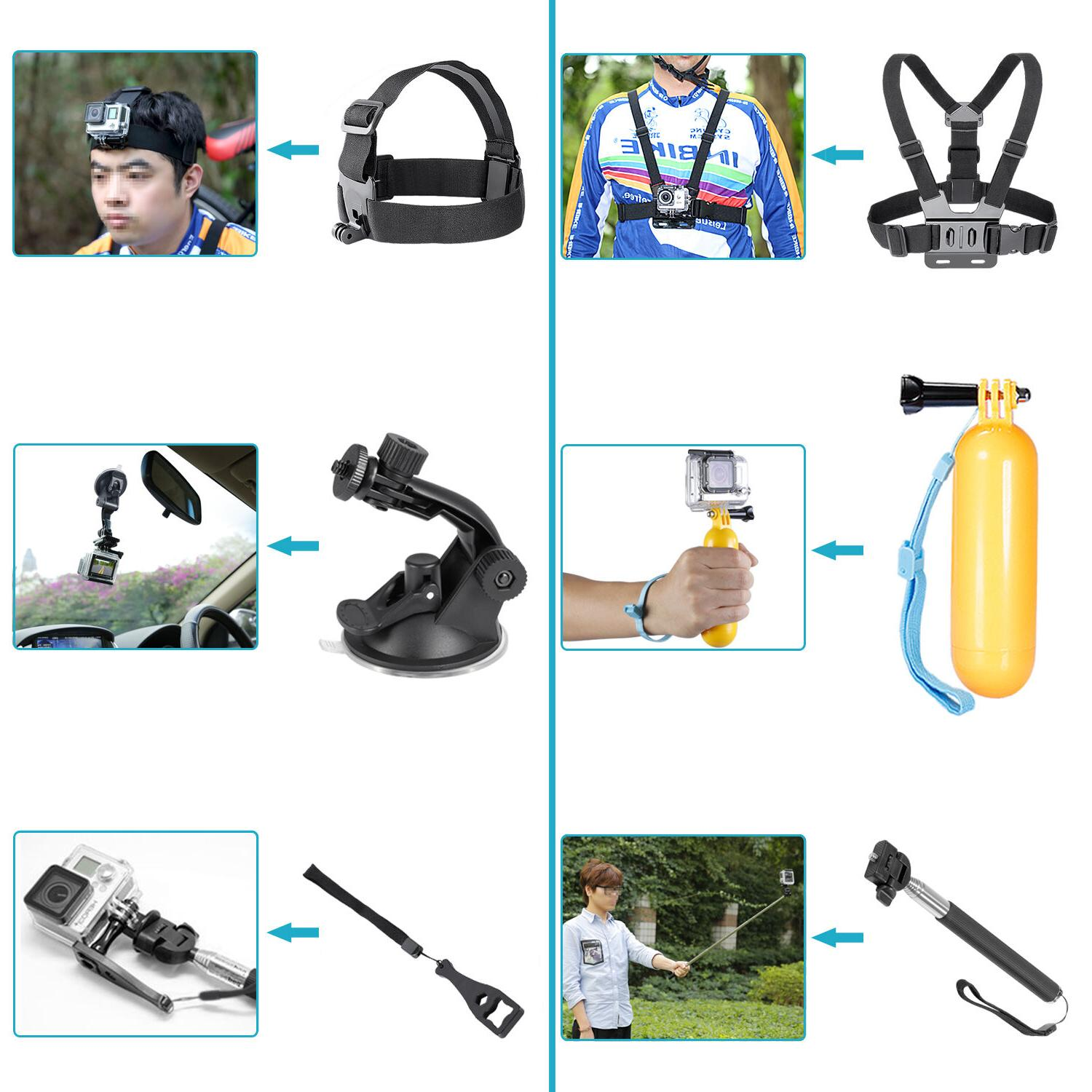 Neewer Accessories for GoPro Hero Black 3+ 3