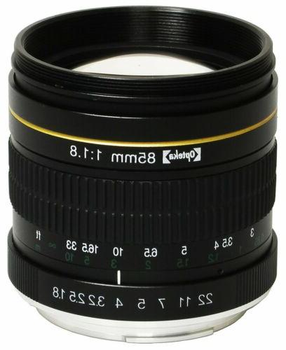 Opteka 85mm Portrait Lens for Nikon D5 D4 D810 D750 D500 D72